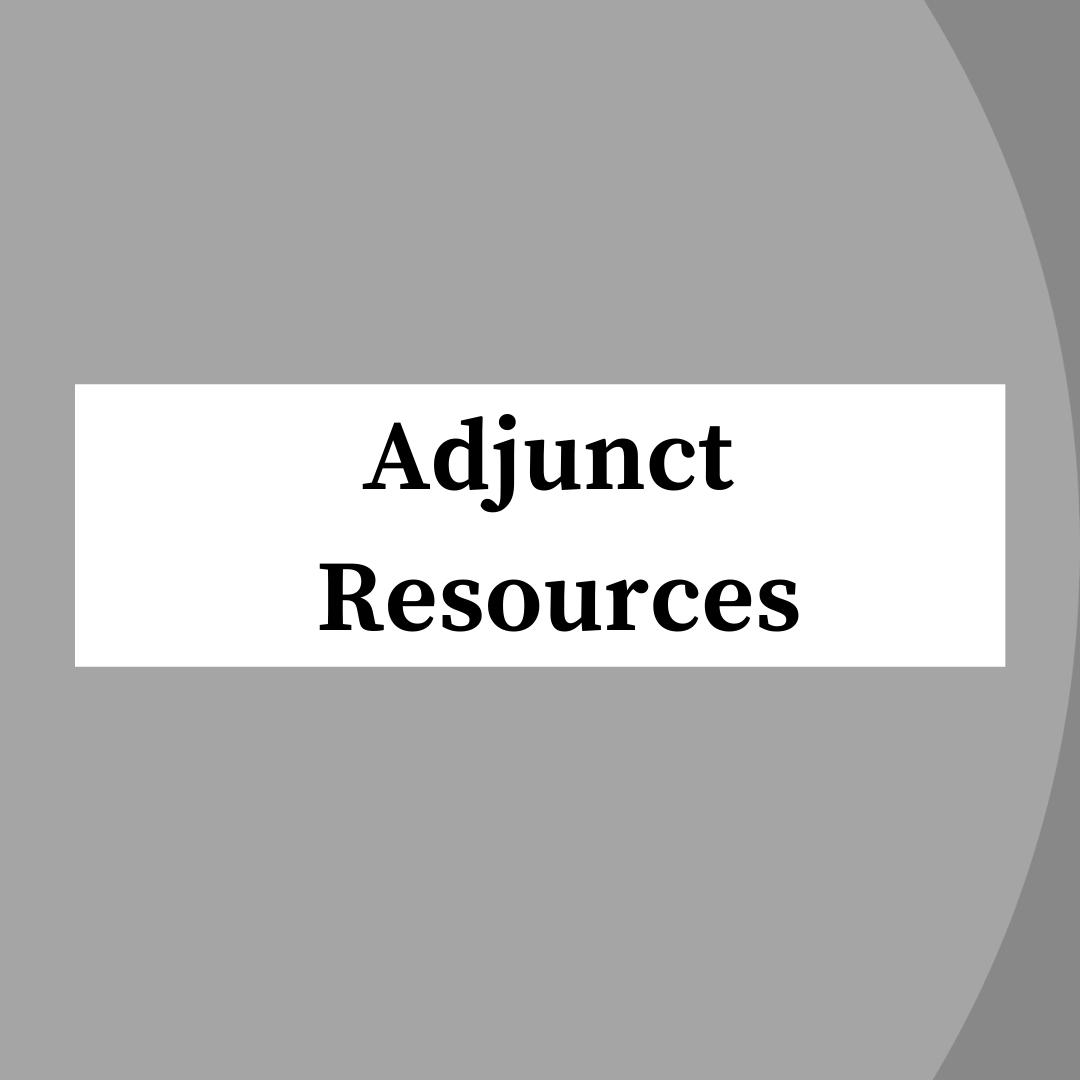 Adjunct Instructor Resources